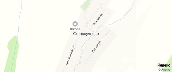 Карта села Старокуяново в Башкортостане с улицами и номерами домов
