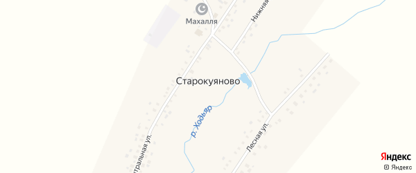 Нижняя улица на карте села Старокуяново с номерами домов