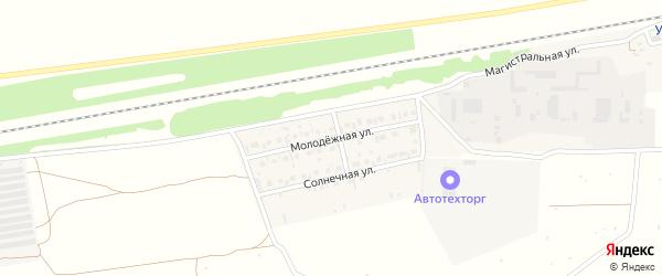 Молодежная улица на карте села Старого Субханкулово с номерами домов