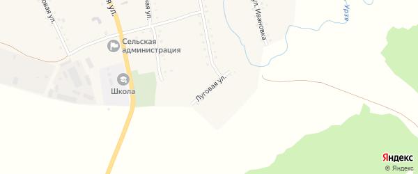 Луговая улица на карте села Килеево с номерами домов