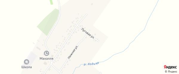 Луговая улица на карте села Старокуяново с номерами домов
