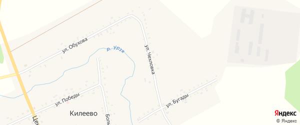 Улица Чехловка на карте села Килеево с номерами домов