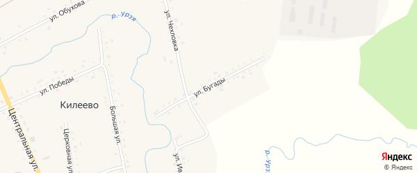 Улица Бугады на карте села Килеево с номерами домов