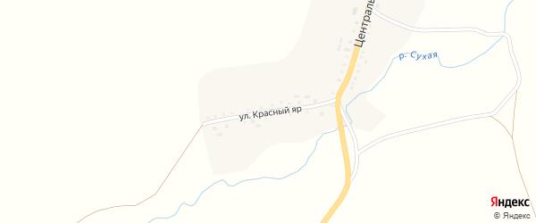 Улица Красный Яр на карте села Староиликово с номерами домов