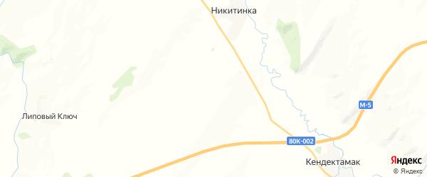 Карта Чукадыбашевского сельсовета республики Башкортостан с районами, улицами и номерами домов