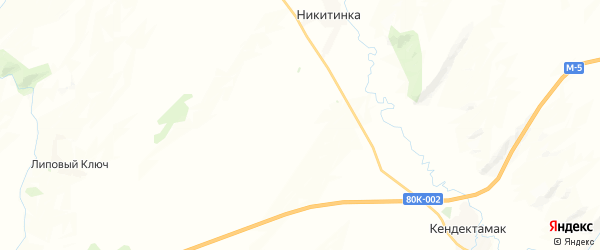 Карта Гафуровского сельсовета республики Башкортостан с районами, улицами и номерами домов
