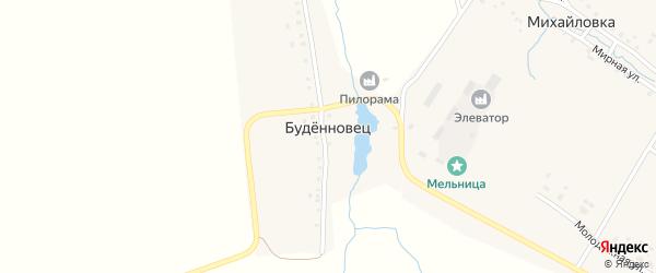 Береговая улица на карте деревни Буденновца с номерами домов