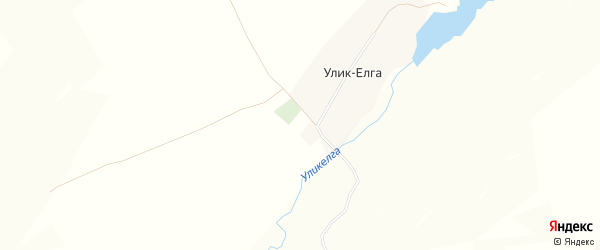 Карта деревни Улика-Елги в Башкортостане с улицами и номерами домов