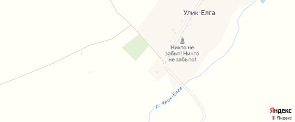 Речная улица на карте деревни Улика-Елги с номерами домов