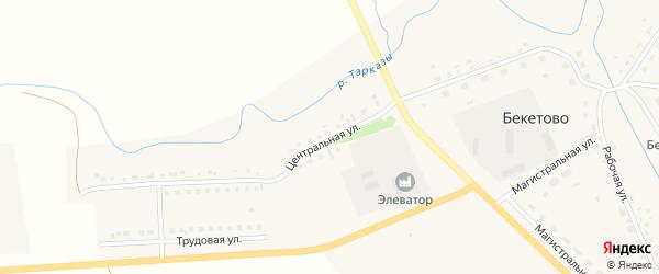 Центральная улица на карте села Бекетово с номерами домов