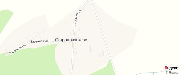 Школьная улица на карте села Стародражжево с номерами домов