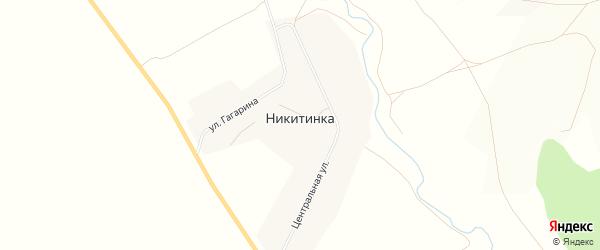 Карта деревни Никитинки в Башкортостане с улицами и номерами домов