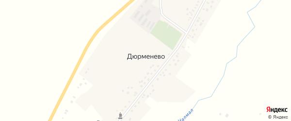 Приречная улица на карте села Дюрменево с номерами домов