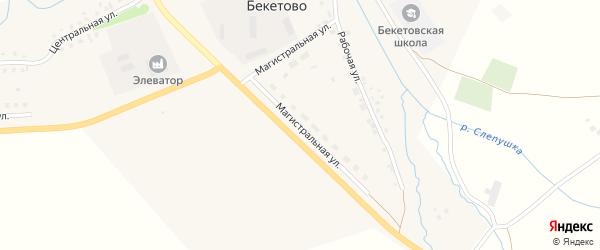 Магистральная улица на карте села Бекетово с номерами домов