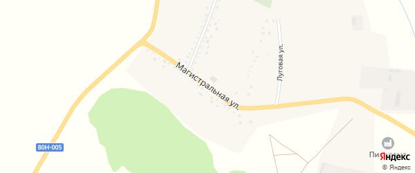 Магистральная улица на карте села Новоиликово с номерами домов