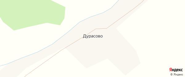 Речная улица на карте деревни Дурасово с номерами домов
