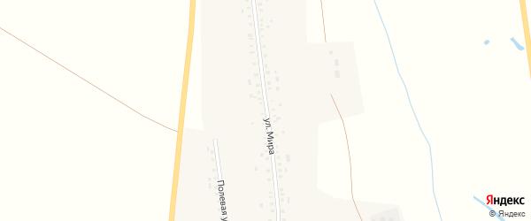 Улица Мира на карте села Новоиликово с номерами домов