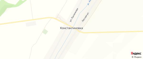 Карта села Константиновки в Башкортостане с улицами и номерами домов