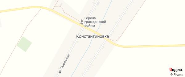 Улица Лысенкова на карте села Константиновки с номерами домов