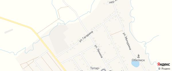 Улица Гагарина на карте села Татар-Улканово с номерами домов