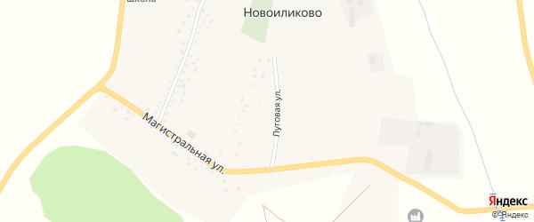 Луговая улица на карте села Новоиликово с номерами домов