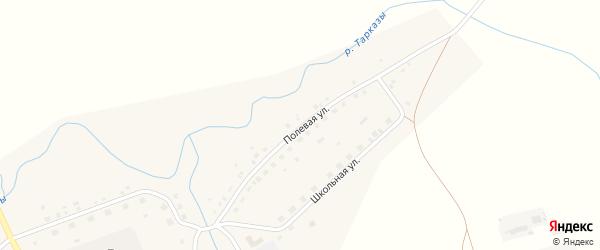 Полевая улица на карте села Бекетово с номерами домов