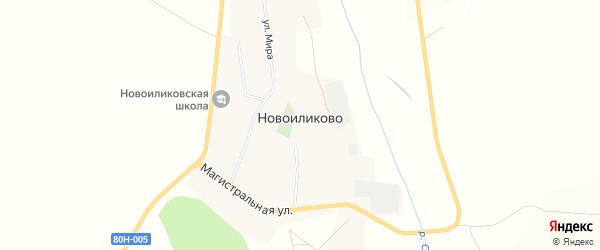 Карта села Новоиликово в Башкортостане с улицами и номерами домов