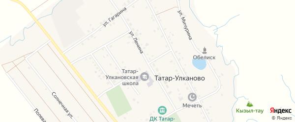 Улица Ленина на карте села Татар-Улканово с номерами домов