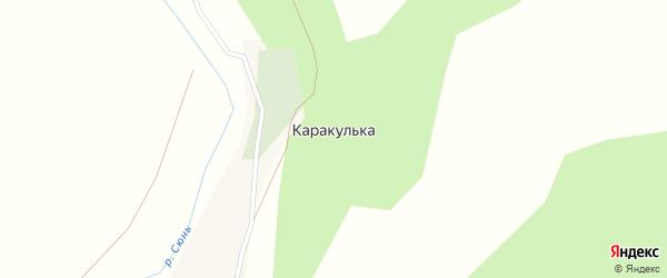 Подгорная улица на карте деревни Каракульки с номерами домов