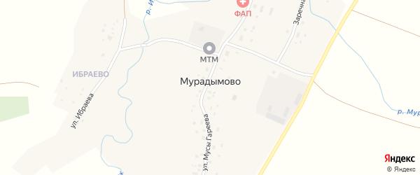 Улица Ибраева на карте деревни Мурадымово с номерами домов