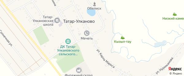 Улица Карла Маркса на карте села Татар-Улканово с номерами домов