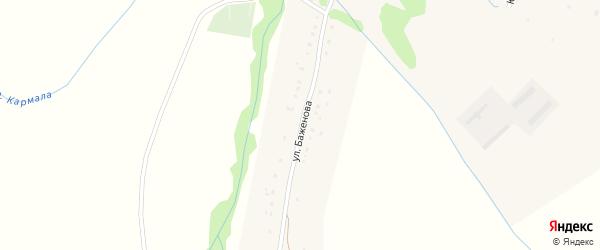 Улица Баженово на карте села Баженово с номерами домов
