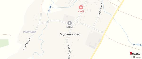 Улица Мусы Гареева на карте деревни Мурадымово с номерами домов