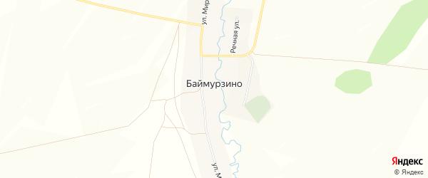 Карта деревни Баймурзино в Башкортостане с улицами и номерами домов