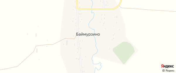 Заречная улица на карте деревни Баймурзино с номерами домов