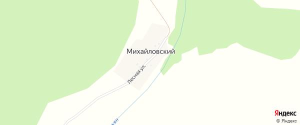 Подгорная улица на карте деревни Михайловского с номерами домов