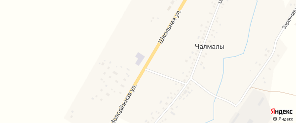 Школьная улица на карте села Чалмалы с номерами домов