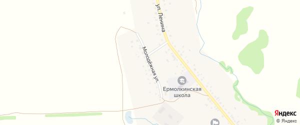 Молодежная улица на карте села Ермолкино с номерами домов