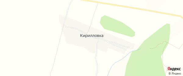 Карта деревни Кирилловки в Башкортостане с улицами и номерами домов