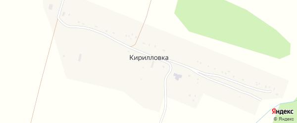 Школьный переулок на карте деревни Кирилловки с номерами домов