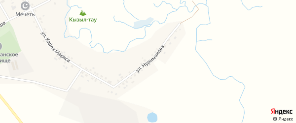 Улица Нуриманова на карте села Татар-Улканово с номерами домов