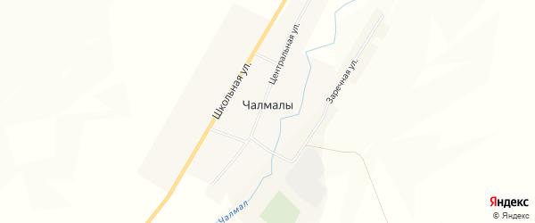 Карта села Чалмалы в Башкортостане с улицами и номерами домов