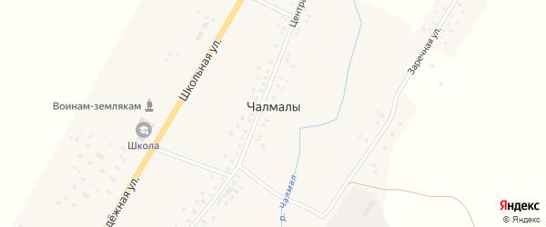 Центральная улица на карте села Чалмалы с номерами домов