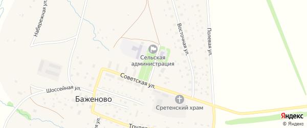 Административная улица на карте села Баженово с номерами домов