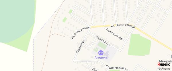 Садовая улица на карте Агидели с номерами домов