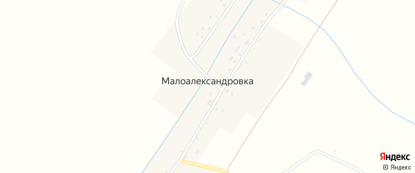 Нагорная улица на карте села Малоалександровки с номерами домов