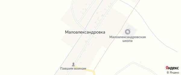 Центральная улица на карте села Малоалександровки с номерами домов