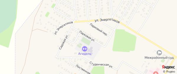 Парковая улица на карте Агидели с номерами домов