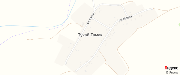 Улица Сюнь на карте деревни Тукая-Тамака с номерами домов