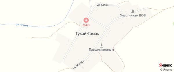 Улица Марс на карте деревни Тукая-Тамака с номерами домов
